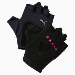 Gym Gloves, Puma Black-ULTRA MAGENTA, small-IND