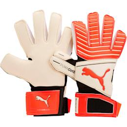 PUMA ONE Grip 17.2 Goalkeeper Gloves, White-Red Blast-Black-Silver, small