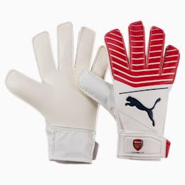 Arsenal PUMA ONE Grip 17.4 JR Goalkeeper Gloves, High Risk Red-Black-White, small