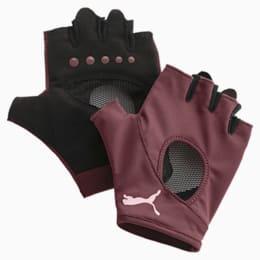 Women's Training Gym Gloves, Vineyard Wine, small-IND