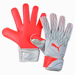FUTURE Grip 19.4 Goalkeeper Gloves, Grey Dawn-Nrgy Red, small