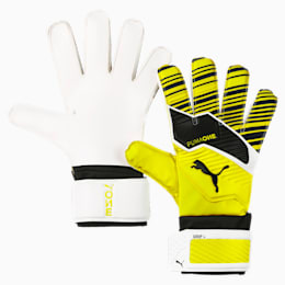 PUMA ONE Grip 4 Goalkeeper Gloves, Yellow Alert-Black-White, small