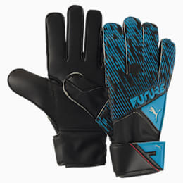 FUTURE Grip 5.4 Goalkeeper Gloves, Luminous Blue-Black-Pink, small