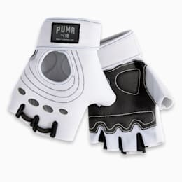 PUMA x ADRIANA LIMA Women's Training Gloves, Whisper White, small-IND