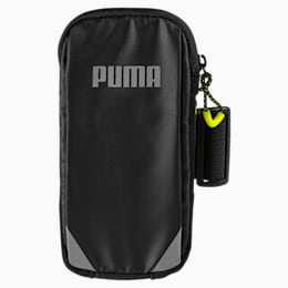 Fascia da braccio Running, Puma Black-Yellow Alert, small