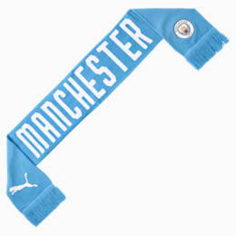 Écharpe Manchester City FC DNA Fan, Team Light Blue-Puma White, small