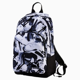 Foundation Backpack, P.Black-White-sneaker print, small-IND