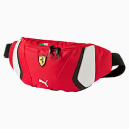 Ferrari Replica Waist Bag, rosso corsa-white-black, small-IND