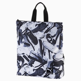 Academy Backpack II, P. Black-White-sneaker print, small-IND