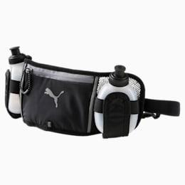 Running Bottle Waist Bag, Puma Black-QUIET SHADE, small-IND