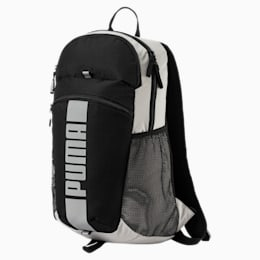 PUMA Deck Special Backpack, Black-White-reflective, small-IND