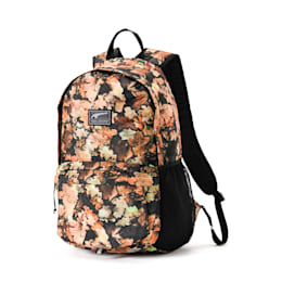 Academy Backpack, Puma Black-Leave AOP, small