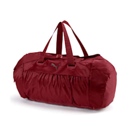 Active Training Women's Sports Duffel Bag, Pomegranate-gunmetal, small