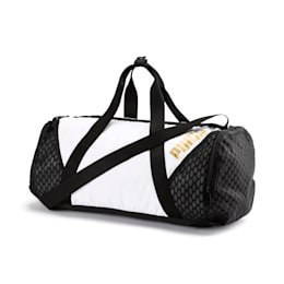 Ambition Gold Women's Barrel Bag, Puma White-Puma Black, small