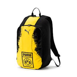 BVB Fanwear Backpack, Puma Black-Cyber Yellow, small