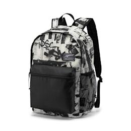 PUMA Academy Backpack, Puma White-Street AOP, small