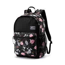 PUMA Academy Backpack, Puma Black-Floral AOP, small