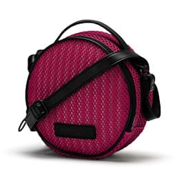 Prime Time Festival Round Shoulder Bag, Fuchsia Purple-Puma Black, small