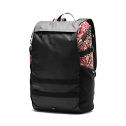 PUMA x LES BENJAMINS Backpack, Puma Black-AOP, small