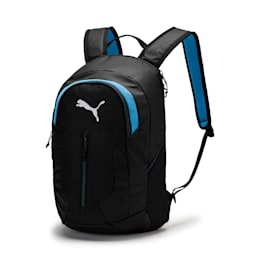 FINAL Pro Backpack, Puma Black-AZURE BLUE, small-IND