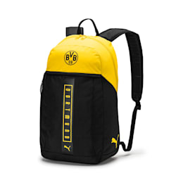 BVB Fan Backpack, Puma Black-Cyber Yellow, small