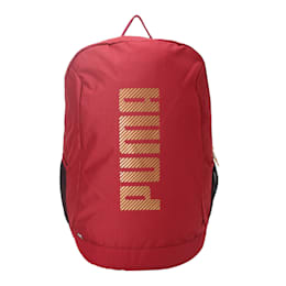PUMA Thirty-Two Backpack II, Pomegranate-Gold, small-IND