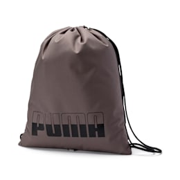 Plus Gym Sack, Charcoal Gray-Puma Black, small-IND