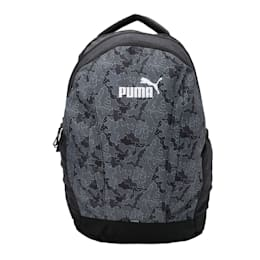 PUMA Style Backpack, Puma Black-Graphic, small-IND