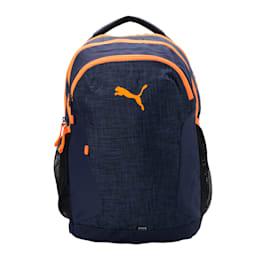 PUMA Prop Backpack, Peacoat-Shocking Orange, small-IND