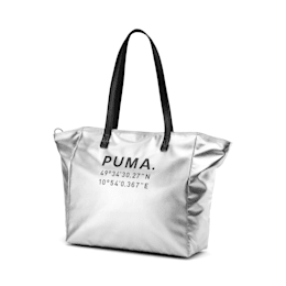 Time Women's Large Shopper, Silver-Puma Black, small-IND