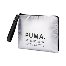 Time Women's Pouch, Silver-Puma Black, small-IND