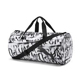 AT ESS Women's Training Duffel Bag, Puma Black-Puma White, small-IND