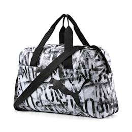 AT ESS Grip Bag, Puma White-Puma Black-AOP, small