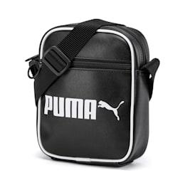 Campus Portable Retro Shoulder Bag, Puma Black, small