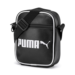 Campus Portable Retro Shoulder Bag, Puma Black, small