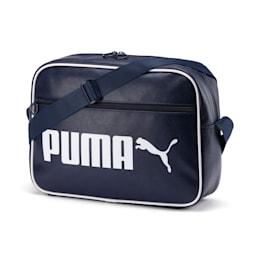Campus Reporter Retro Shoulder Bag, Peacoat, small-IND