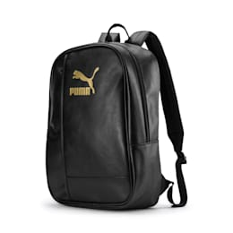 Originals Retro PU Backpack, Puma Black, small-IND