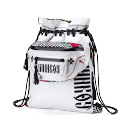 PUMA x JAHNKOY Backpack, Puma White-Multicoloured, small