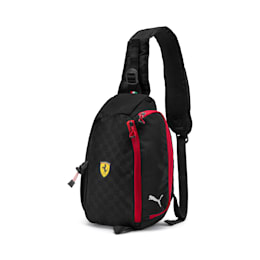 フェラーリ ファンウェア シリング バッグ 7L, Puma Black-Rosso Corsa, small-JPN