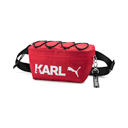 PUMA x KARL LAGERFELD Waist Bag, High Risk Red-Puma Black, small