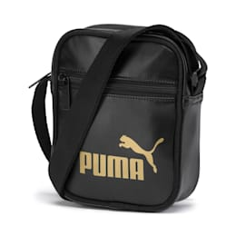 Up Women's Portable Shoulder Bag, Puma Black-gold, small