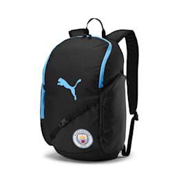 Man City Liga Backpack, Puma Black-Team Light Blue, small-IND