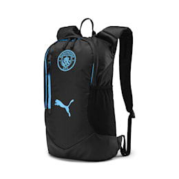 Man City Performance Backpack, Puma Black-Team Light Blue, small-IND