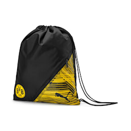 BVB Football Culture Gym Sack, Puma Black-Cyber Yellow, small