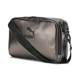 Prime Small Women's Shoulder Bag, Shitake-Puma Black-metallic, small-SEA