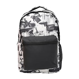 PUMA Academy Backpack IND, Puma White-Street AOP, small-IND