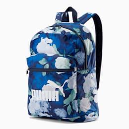 PUMA Classic Cat Backpack, Peacoat- Floral AOP, small