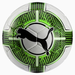 evoPOWER 5.3 Trainer Football, White-Green Gecko-Black, small-IND