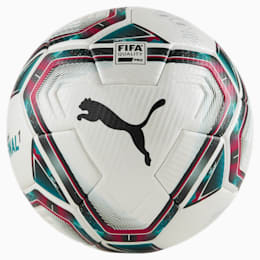 Bola de futebol FINAL 1 FIFA Quality Pro, White-Rose Red-Ocean Depths, small