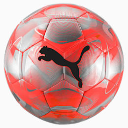 FUTURE Flash Soccer Ball, Nrgy Red-Silver-Grey-Black, small